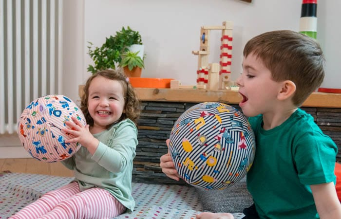 Kids playing with BubaBloon